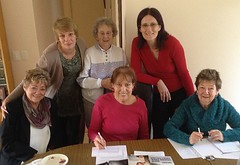 Helensvale Writers group with Marianne de Pierres
