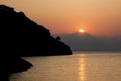 Sunrise at Ag Limani (C0671) (C-Dals) Tags: sea sky sun mountain sunrise nikon mediterranean nikkor d5200 18300mmf3556gvr alimani