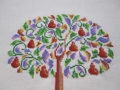 (yatsuk) Tags: tree garden embroidery orchard pear beadwork