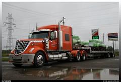 "International Lonestar ""Contrans"" (uslovig) Tags: canada marie truck star international lorry camion lone trailer ste lonestar kanada flatbed lastwagen sault lkw laster lastkraftwagen auflieger flachbett contrans"