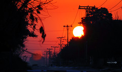 Winter Hues (Aadilsphotography) Tags: sunset orange canon wires islamabad 250mm