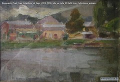 Romualdo Prati San Crisfoforo al lago (1910-1914) olio su tela 23.5x34.5cm Collezione privata