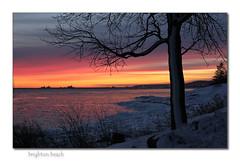 brighton beach (MyGallery) Tags: winter sunset water brightonbeach lakesuperior duluthminnesota kitchigammipark canonef18135mmis canoneos60d