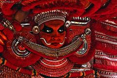 Kannur, Kerala, Theyam (touched_up) Tags: india beautiful traditional north kerala best indien malabar ritualistic kannur theyam cannanore kattakalli theyyatam