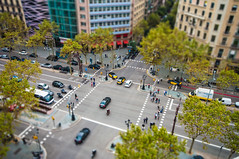 Barcelona street tilt shift (Alja Vidmar | ADesign Studio) Tags: barcelona spain tiltshift postprocessing miniatureeffect