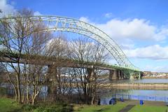 Runcorn / Widnes Bridge (Barry Miller _ Bazz) Tags: bridge cheshire westbank runcorn widnes halton manchestershipcanal rivermersey runcornbridge canon600d