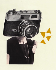 Selfie (Sophie Moates) Tags: camera colour art yellow collage illustration cutout photography design graphicdesign triangle handmade cut mixedmedia collages shapes collageart shape campaign selfie papercollage cutandstick collagesketchbook