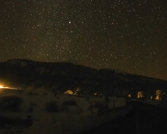 Lonely Road (stephencurtin) Tags: road snow cold color night stars clear photograph lonely starry