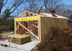 A half day's work (Jer*ry) Tags: building work construction garage worker framing carpentry attheneighbors