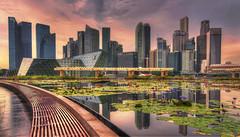 Singapore at sunset (Fil.ippo) Tags: travel sunset skyline photoshop nikon singapore tramonto cityscape filippo topaz abigfave d5000 filippobianchi