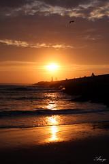 3 (PabloArroyoOcio) Tags: sunset sol praia beach portugal atardecer do playa por aveiro