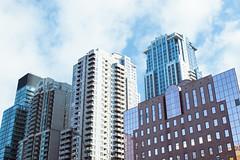 Toronto (NolanDolo) Tags: city blue windows sky color clouds contrast buildings high place smooth temperature hue streetview units