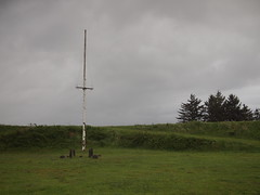 Battery communication mast (Bushman.K) Tags: mast fortstevens earthwork batteryfreeman