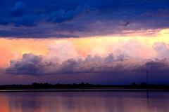 Tramonto con effetti speciali () Tags: sunset sky colors field clouds evening tramonto nuvole rice cielo fields colori sera risaia risaie d7100