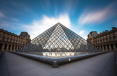 PYRAMID POWER (Rober1000x) Tags: longexposure paris france architecture clouds arquitectura europa europe pyramid louvre architect francia pei 2014 louvremuseum louvrepalace