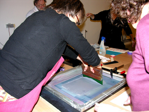 Cursus zeefdruk in Zonneheem © Antheunis Jacqueline