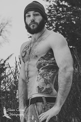 Model - Joshua (Shawn Collins Photography) Tags: winter ohio hairy male men canon beard outdoors photoshoot arms modeling masculine muscle models tattoos flannel facialhair plaid abs lumberjack built hairychest malemodels hairyarms lumbersexual