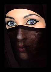 The Veil - 03 (Aozma Qureshi) Tags: woman face scarf happy freedom eyes women peace veil muslim religion makeup mysterious faceless recognition protection powerful annoyed quran verses mysteriouswoman wayoflife headcovering harassed muslimwoman harassment muslimwomen recognise 3359 facecovering chapter33verse59 preventionofharassment