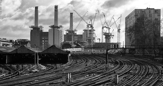 Rails And Cranes And Chimneys