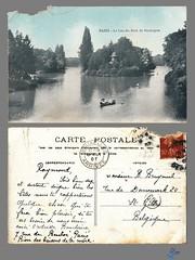PARIS - Le Lac du Bois de Boulogne (bDom) Tags: paris 1900 oldpostcard cartepostale bdom