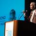 Civil rights activist and former Georgia state Senator Julian Bond gives the keynote during the 19th Annual Barbara Jordan Forum at the Lyndon B. Johnson School of Public Affairs at The University of Texas at Austin.