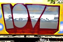 LOVE (SPEAR1X) Tags: ca street cali train graffiti graf tracks socal spraypaint freight lovecrew