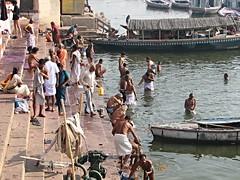 varanasi india (gerben more) Tags: people india boat varanasi bathing hinduism ganga ganges benares india20062