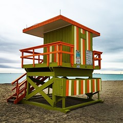 One Of The #Famous #LifeguardStands Of #SouthBeach #Miami #Florida #WelcomeToMiami Look #Awesome On A #Cloudy #Morning (hogophotoNY) Tags: cameraphone usa beach digital square us unitedstates florida lofi lifeguard squareformat miamibeach southbeach eastcoast floridausa hogo hogophoto iphoneography instagramapp uploaded:by=instagram hogophotony
