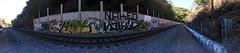 (Nomad_Vagrant) Tags: panorama art train naked graffiti shot action forum tracks manos bayarea eastbay ziek ybk deb8