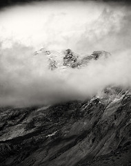 A cliff the size of the world (Zeb Andrews) Tags: mountain film monochrome landscape blackwhite washington pacificnorthwest 6x7 analogphotography filmphotography mtrainiernationalpark pentax67 kodakektar100
