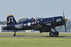 Taxiing, Right Side, Chance Vought F4U-4 Corsair, N713JT, Sun 'n Fun International Fly-In, Florida (Peter Cook UK) Tags: show sun fun fly florida air n international f corsair chance lakeland flyin in 2016 f4u f4u4 vought n713jt