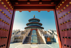 Temple of Heaven (adrianchandler.com) Tags: china door city morning building architecture landscape religious temple gate worship heaven exterior outdoor chinese unescoworldheritagesite daytime taoist taoism medievel