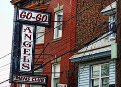 Angels Men's Club (raymondclarkeimages) Tags: raymondclarkeimages 8one8studios usa canon 6d 50mm18stm building outdoor sign street club angelsmensclub gogogirls gogo brick nj newjersey nightclub gentlemensclub elizabeth 200dollarbottles entertainment bar drinks dancers lounge rci pictureof picof photography photographer imageof flickr google yahoo