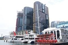 Barangaroo site from Darling harbour (Val in Sydney) Tags: tower harbour sydney australia nsw darling australie barangaroo