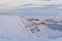Moon Sight (Benocrash) Tags: snow norway pole svalbard arctic neige polar arctique longyearbyen northernmost polaire norvge larsbreen d7100