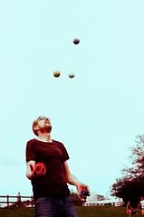 Stevie C (gregkitten) Tags: summer film 35mm xpro crossprocessed fuji cross 100 analogue juggling juggler process yashica sensia mg1