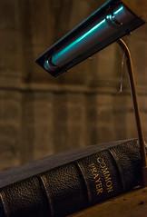 Common Prayer (Daniel C P M) Tags: uk blue light england brick church lamp strange leather metal paper book interesting nikon prayer religion icon indoors bible common pillars lectern d7100 nikond7100