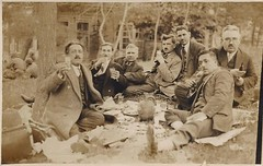 Men having picnic with rak, meze and kebab by the Kthane Creek in Istanbul, 1928 [1292x820] #HistoryPorn #history #retro http://ift.tt/1Yia9q9 (Histolines) Tags: men history by creek picnic with istanbul retro timeline having 1928 kebab meze rak vinatage historyporn kthane histolines httpifttt1yia9q9 1292x820