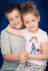 Twix (MissSmile) Tags: family portrait kids studio children sweet sister brother adorable siblings together embrace misssmile