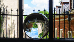 Pebrunntor. // Mit der Kugel durch Regensburg (seyf\ART) Tags: park garden town stadt refraction regensburg ratisbon crystalball glaskugel