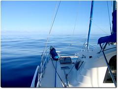 Day after day, no wind. (Slackadventure) Tags: sun water boats islands sailing pacificocean cruisers circumnavigation marquesas slackadventure