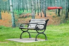 'Have Canoe, Will Travel' .... HBM / Happy Bench Monday (Greg's Southern Ontario (catching Up Slowly)) Tags: bench canoe parkbench publicbench hbm torontoist happybenchmonday torontoparkbench