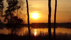 sunset (JoannaRB2009) Tags: lake water nature trees sunset colours sky zalewsulejowski landscape view polska poland dzkie lodzkie spring