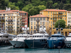 Port of Nice (Johnners61) Tags: city blue france port pen buildings boats four coast boat town nice cotedazur harbour yacht olympus micro yachts quaint olympuspen picturesque southoffrance thirds m43 mft epl1 microfourthirds portlympia