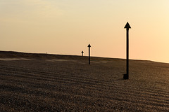 Ascend (SimonTHGolfer) Tags: uk sunset summer abstract art beach nature sunrise landscape suffolk nikon glow shingle minimal d750 ripples rippled minimalism markers minimalist felixstowe eastanglia eastcoast landscapephotography simontalbothurnphotography