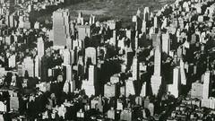 Midtown Manhattan aerial view, New York. c.1951 (cobravictor) Tags: newyork skyline skyscrapers centralpark aerial retro 50s chryslerbuilding oldphotos rcabuilding midtownmanhattan