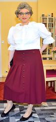 Ingrid022086 (ingrid_bach61) Tags: skirt blouse mature pleated ruffled faltenrock rschenbluse