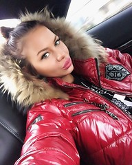 Fur hood (mpreks22) Tags: winter fur shiny coat down jacket hood puffer