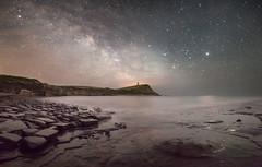 Star Glow - Kimmeridge Bay (macdad1948) Tags: mars night stars coast nightscape astro cliffs astrophotography dorset saturn pillbox milkyway kimmeridgebay starscape jurassiccoast clavelltower