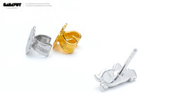 Moomin Jewelry_Earrings and Packaging_05 (Saravut - Viewfinder) Tags: moomin earrings closeup macro gold silver accessories photography studio whitebackground retouch jewelry